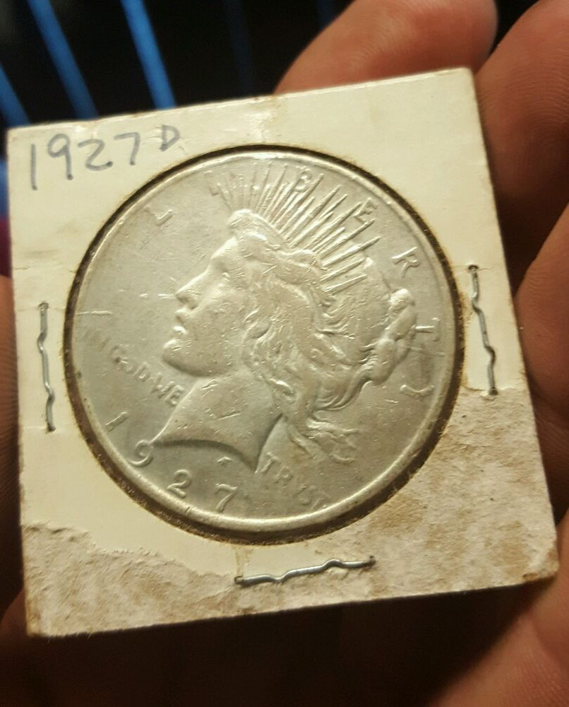 1927 D Peace Silver Dollar With Images Peace Dollar