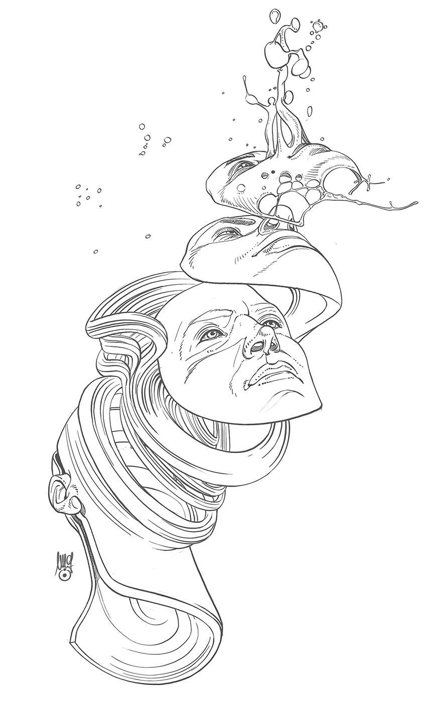 Liquid Mind Illustrations   Abduzeedo