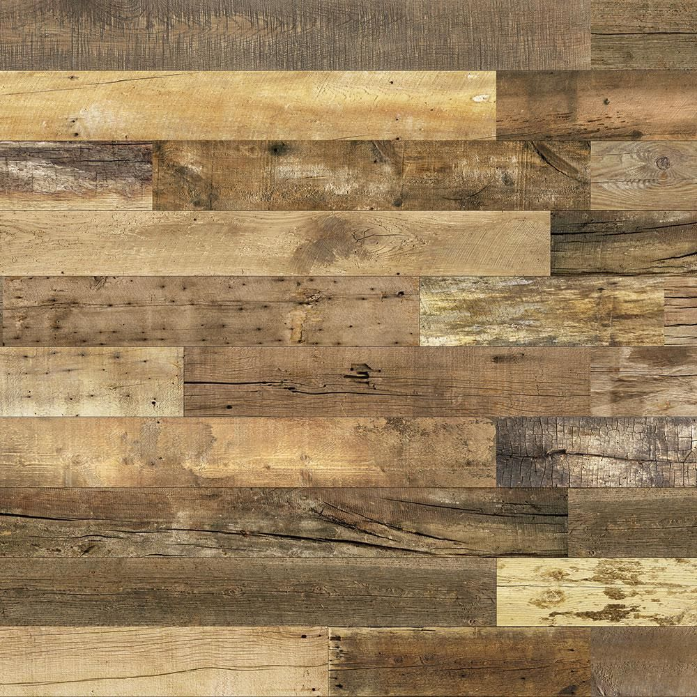 Enkor Barnwood Collection 3 8 In X 6 In X 64 In Urban Cowboy Engineered Wood Interior Accent Wall Panel 8 Box 129200 The Home Depot Interior Accent Wall Wood Panel Walls Accent Wall Panels