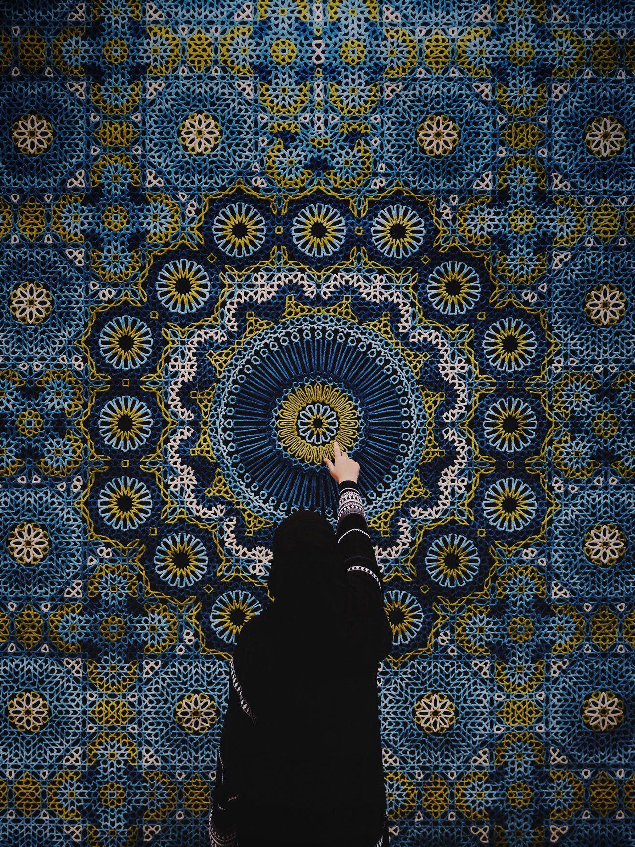 The Hammam Deluxe carpet by Samovar Carpets. Photo byHerald Herrera at Downtown Design Dubai 2015.