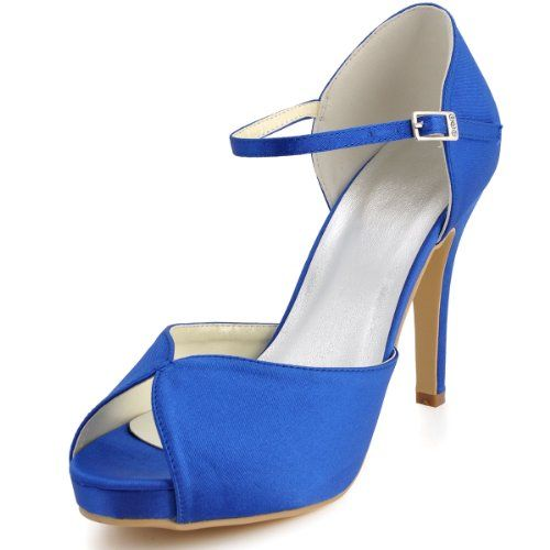 f6bf7773cf21 Minitoo GYMZ667 Womens 4 Inch Heel Blue Satin Evening Party Bridal Wedding  Strappy Shoes 6 M