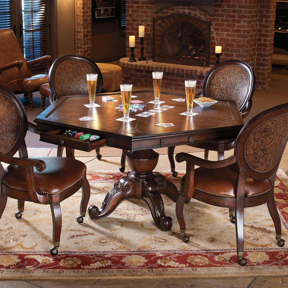 Family Game Time On The Beautiful Austin Game Room Furniture Set By  Frontgate