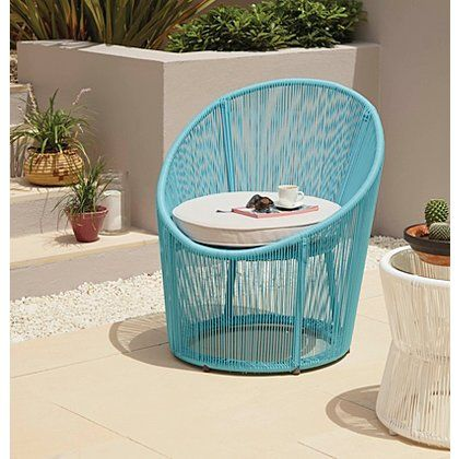 Primo Egg Bistro Chair - Blue | Garden Furniture | George at ASDA ...