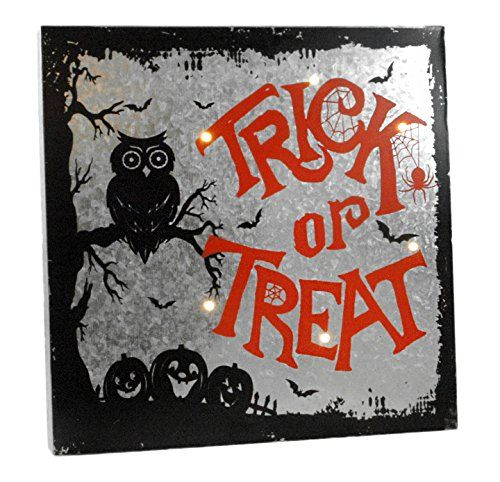 Decorative Wall Signs Fascinating Trick Or Treat Light Up Halloween Wall Sign ** Click Image For Decorating Design