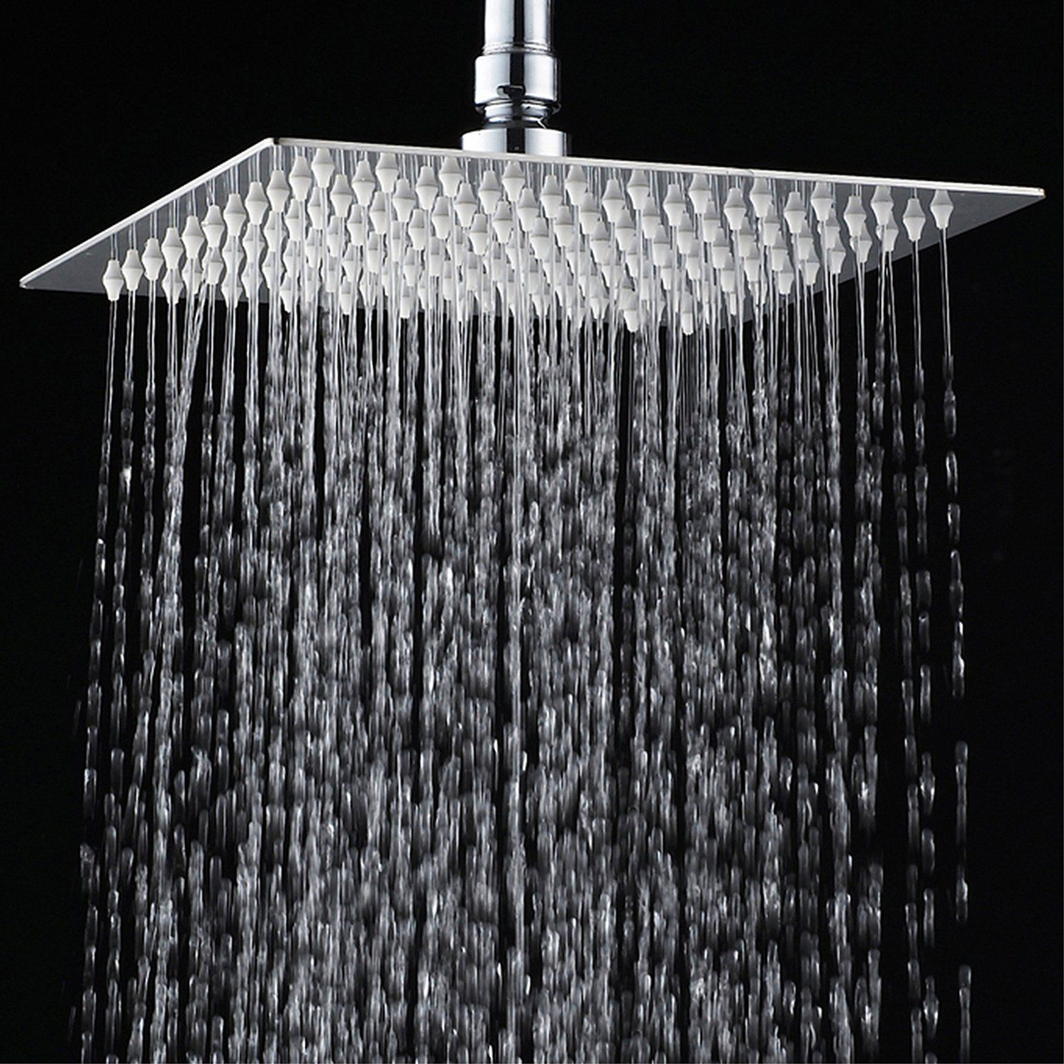 Yawall Rainfall Shower Head 12 Ultra Thin Stainless Steel High
