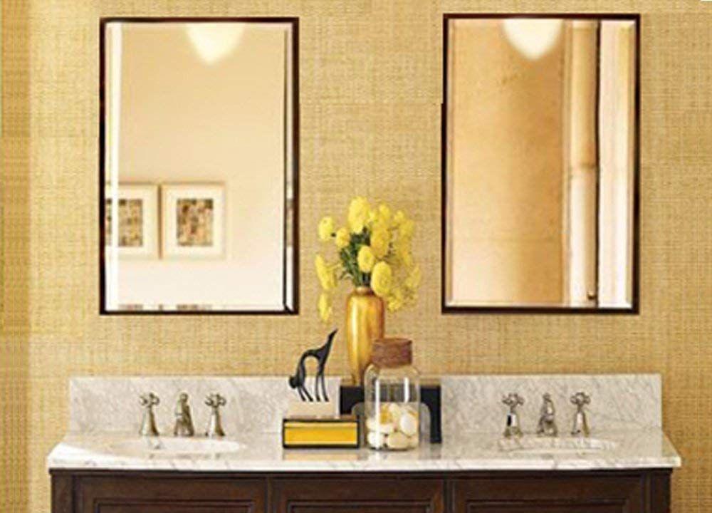 Amazon Com Hans Alice Large Rectangular Bathroom Mirror Wall Mounted Wooden Frame Van Rectangular Bathroom Mirror Vintage Bathroom Mirrors Vintage Bathroom