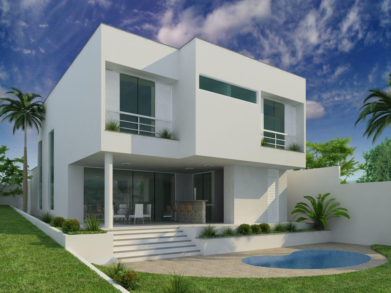 Planta de casas 2 pisos valeria pinterest fachadas for Plantas de casas modernas