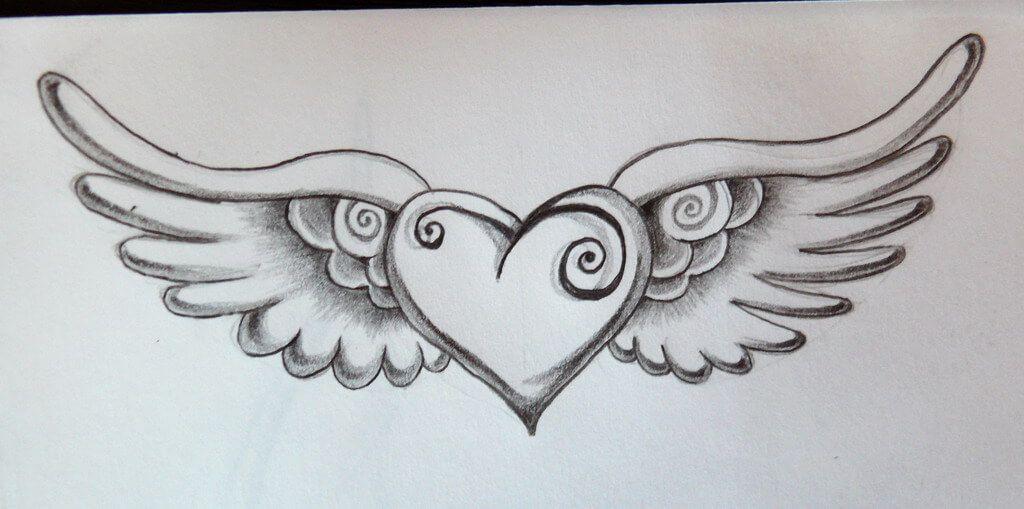tatuaje de corazon a lapiz   Pinteres