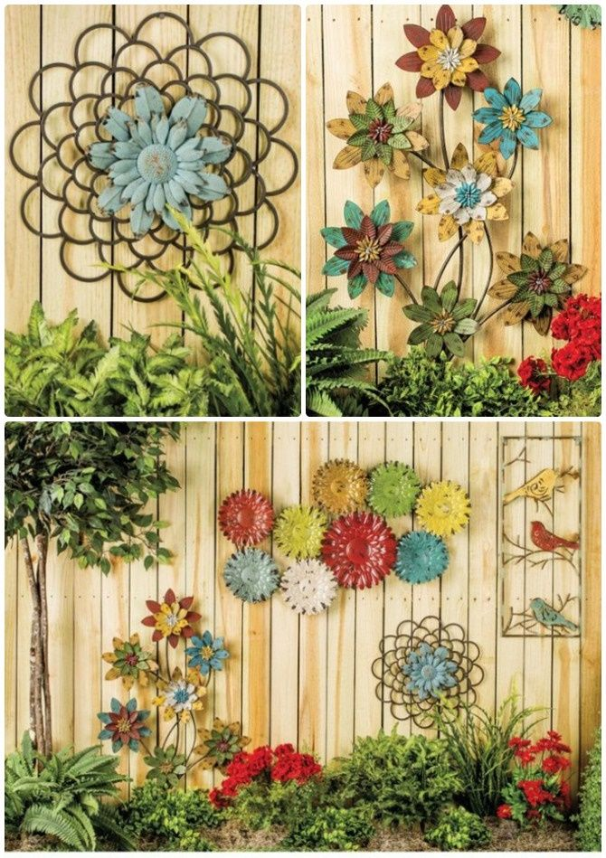 Booming Metal Flower Garden Fence Decor-20 Fence Decoration Makeover ...