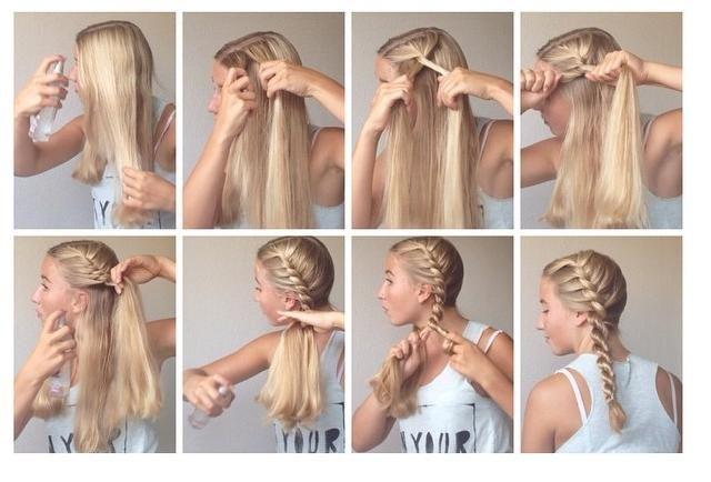 Simple Side Braid Tutorial Hairstyles How To Hair Styles Hair Tutorial French Braid Hairstyles