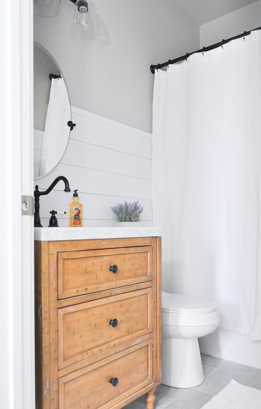 Modern Farmhouse Bathroom Makeover Modern Farmhouse Bathroom