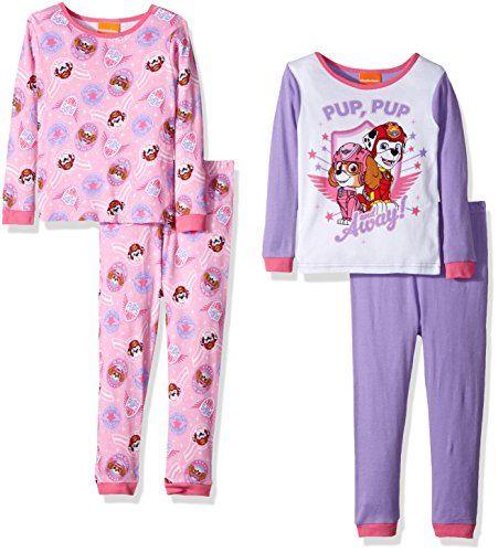 e94578f4c2 Girls  Paw Patrol 4-Piece Cotton Pajama Set Nickelodeon Girls