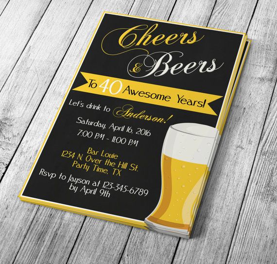 diy 5x7 cheers beers party invitation editable template microsoft word format party. Black Bedroom Furniture Sets. Home Design Ideas