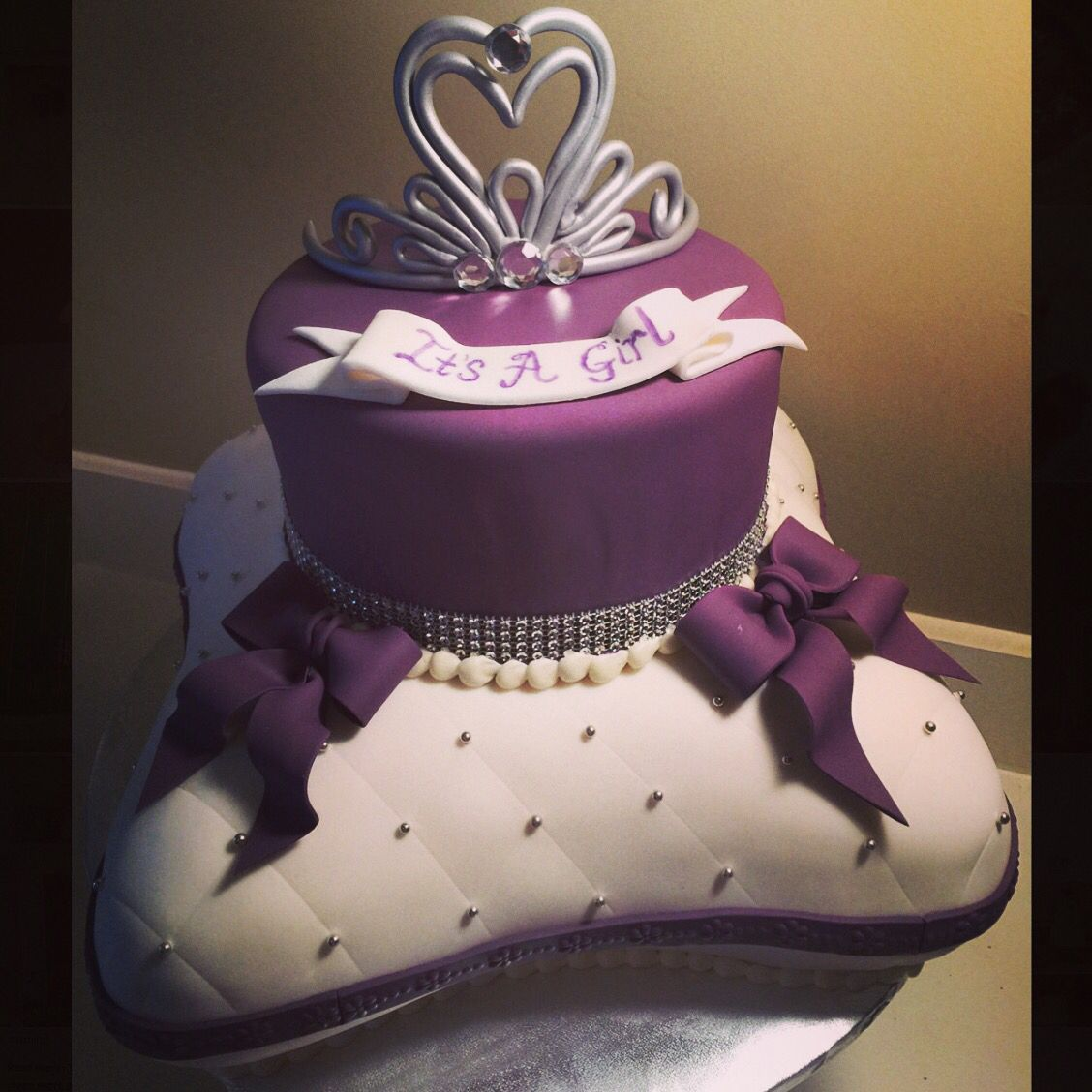 Princess Pillow Cake Images : Princess pillow baby shower cake. Sculpted 3D Cakes ...