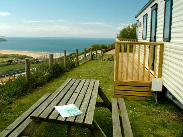 Platinum Caravan With Prime Sea View At Woolacombe Bay Holiday Home Outdoor Structures Woolacombe Bay