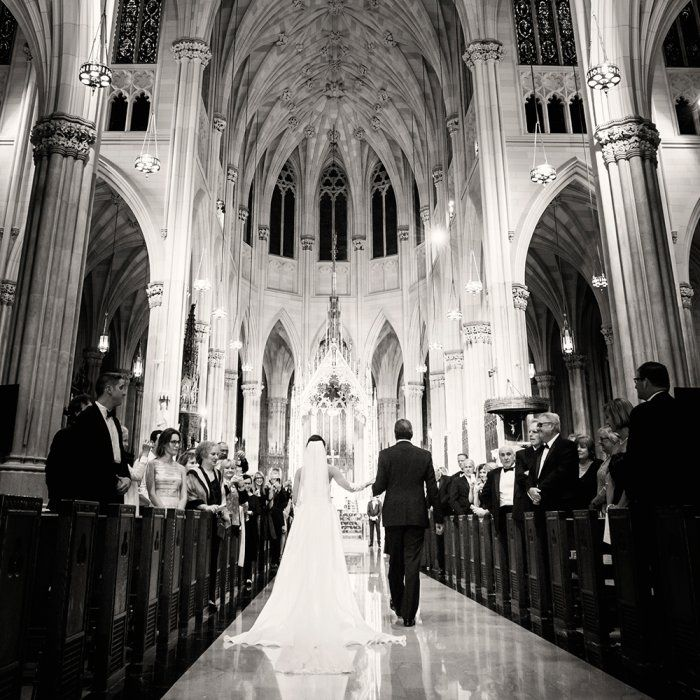 Gorgeous Wedding Ceremony Photo At St. Patrick's Cathedral