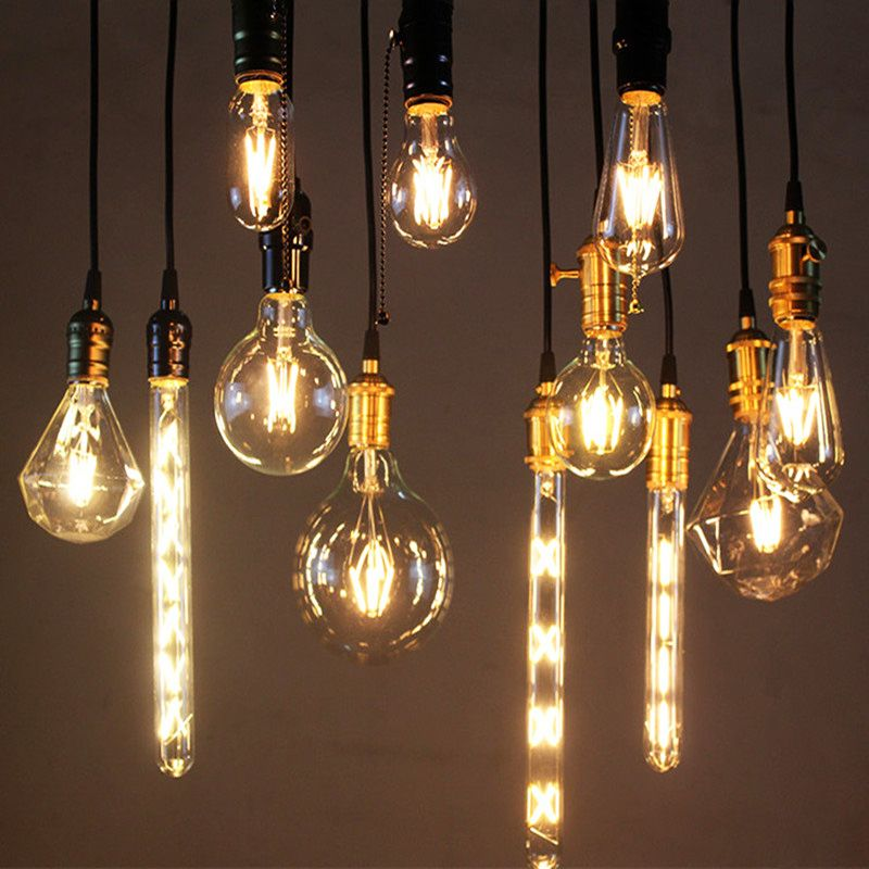 Filament Decorative Antique Edison Bulbs B22 E27 E14 LED Vintage Light A