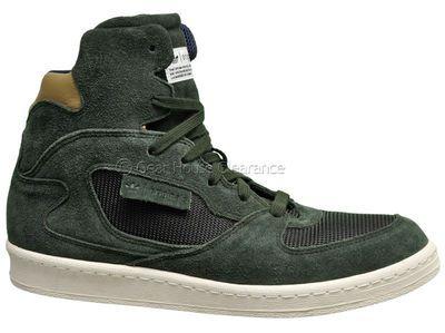adidas originali raintrek scarpe (nuovo) high top verde scuro di pelle