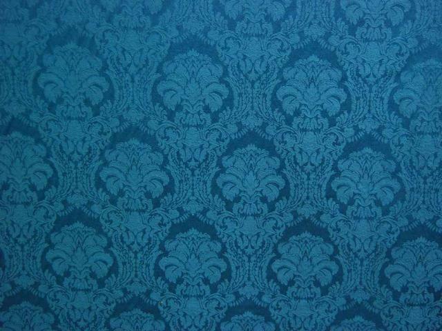 Blue Damask Wallpaper Victorian