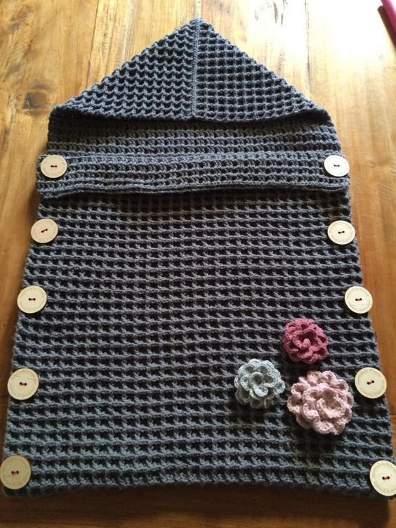 Crochet Baby Sleeping Bag Crochet Newborn Crochet