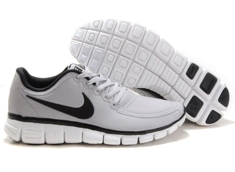 Nike Free 5.0 V4 Black Dark Grey Shopee Malaysia  Womens
