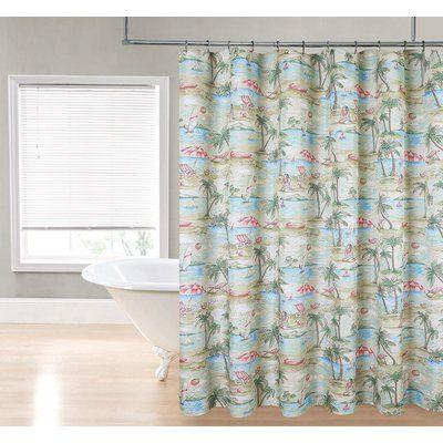 Bayou Breeze Delanie Single Shower Curtain Fabric Shower