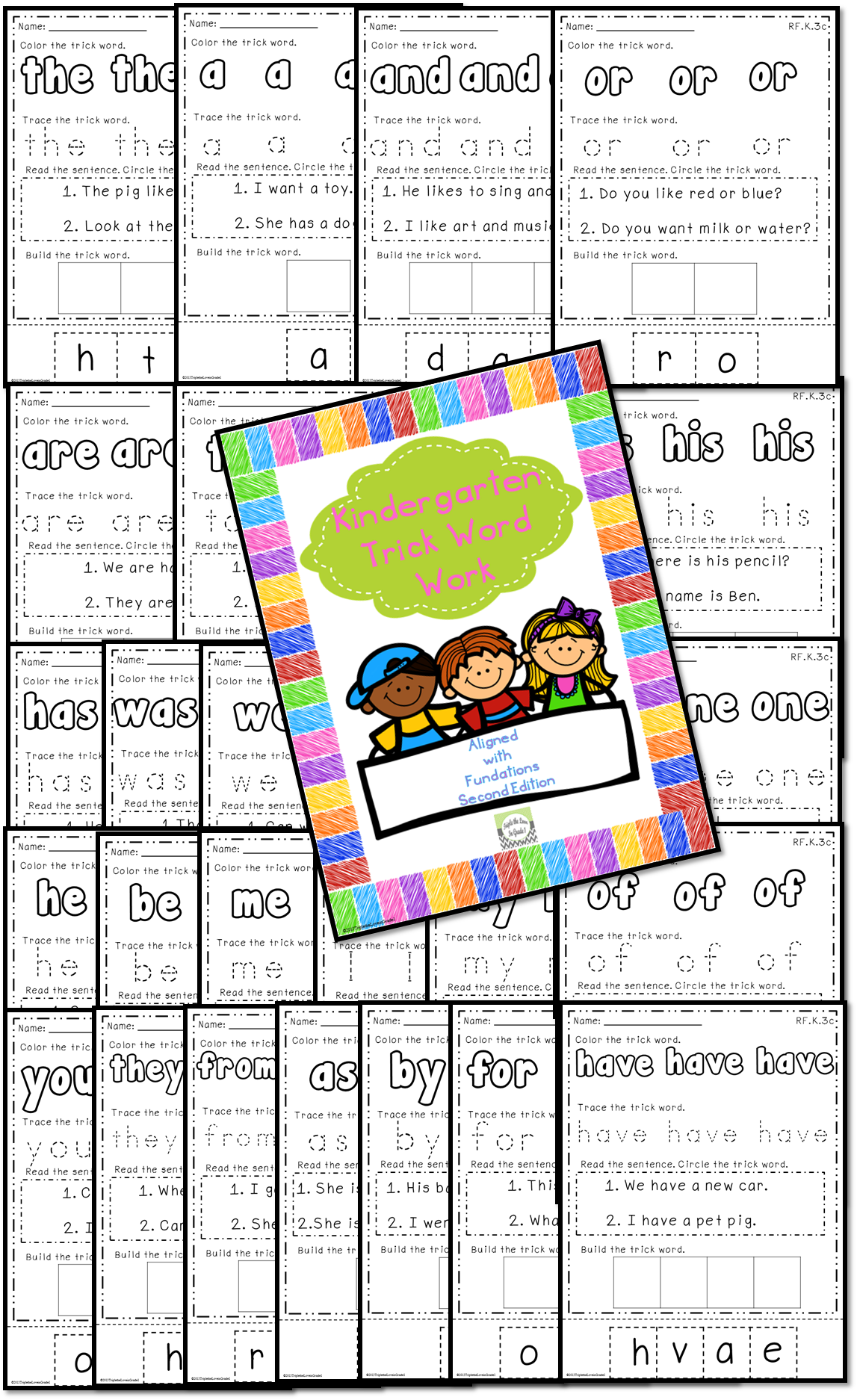This Great Pack Aligns With Fundations For Kindergarten