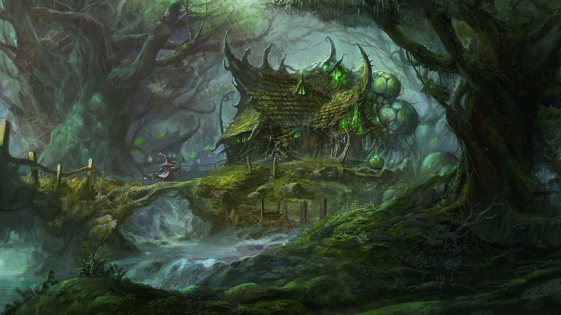 Fantasy Forest Wallpaper  D&ampD Cities/Towns/Temples