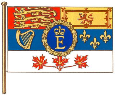 Queen Elizabeth II [Royal Family] | Canadian flag, Military flag, Coat of  arms