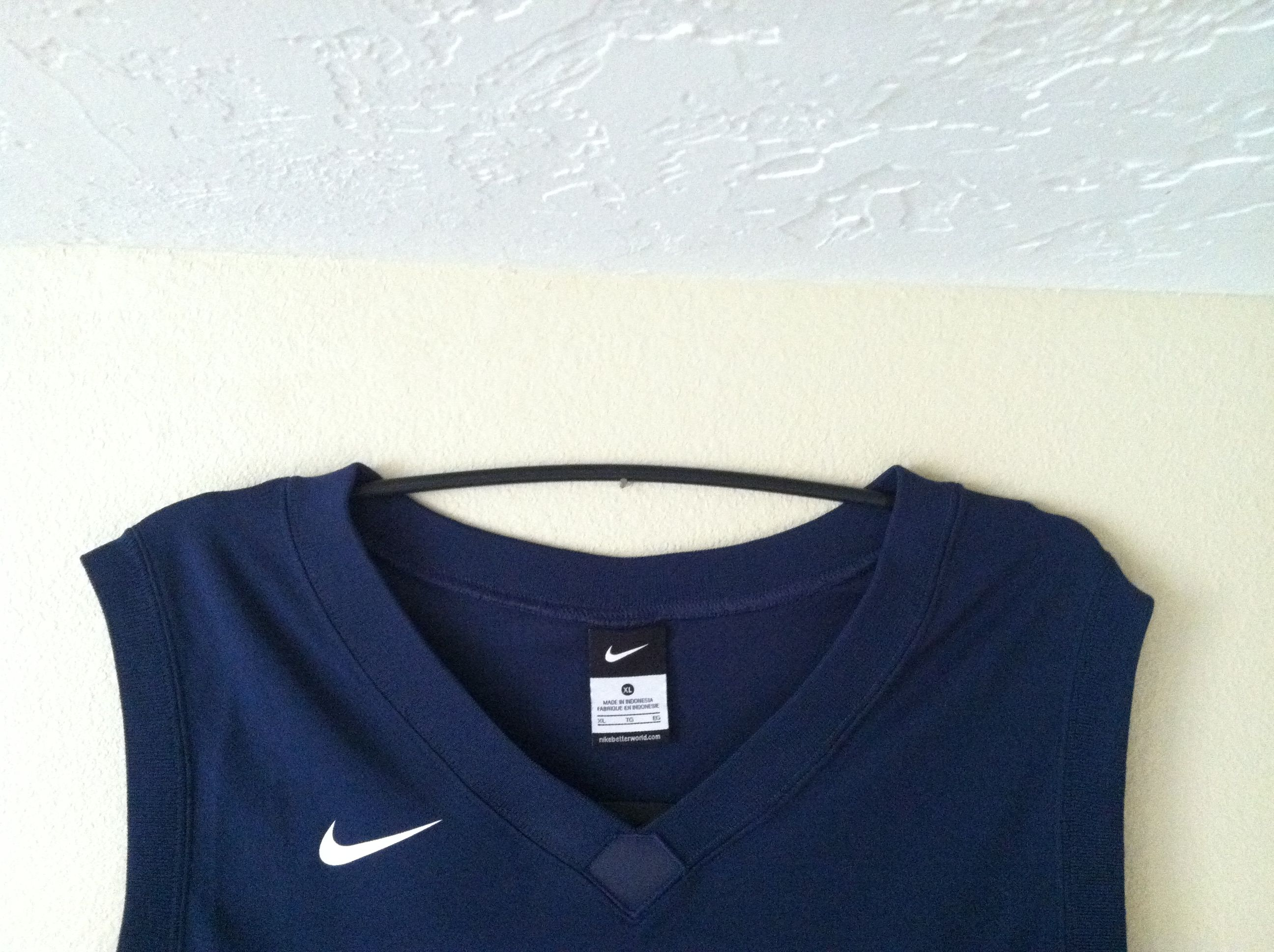 Hang A Sports Jersey With An Upside Down Hanger Instead Of