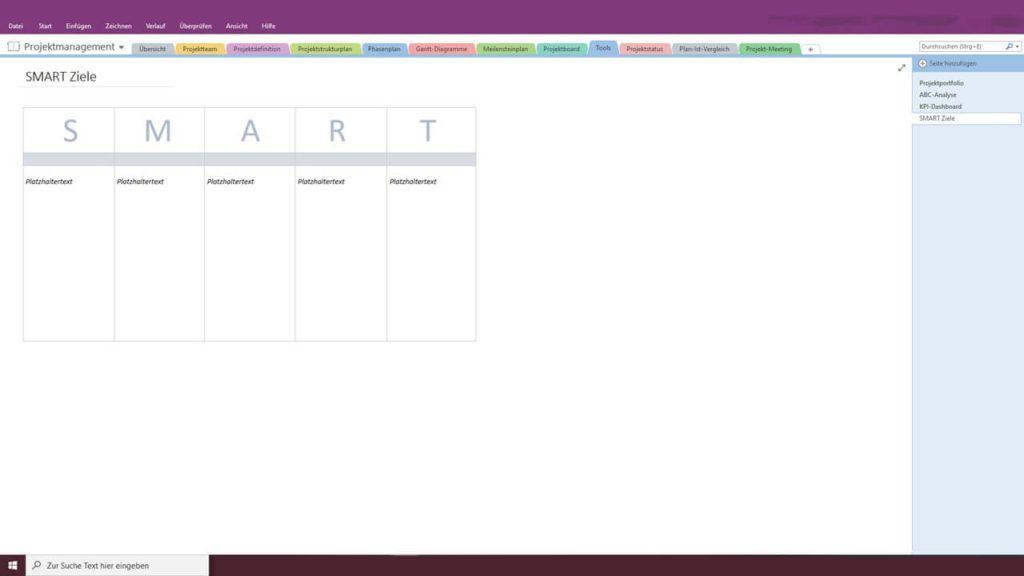 Smart Vorlage Fur Onenote In 2020 Projektmanagement Projektmanagement Vorlagen Vorlagen