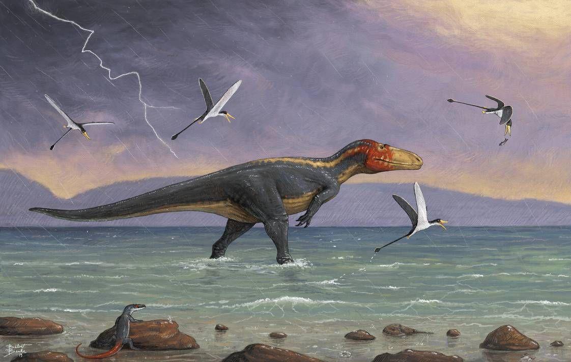 Eustreptospondylus By Tnilab Ekneb121 On Deviantart Prehistoric