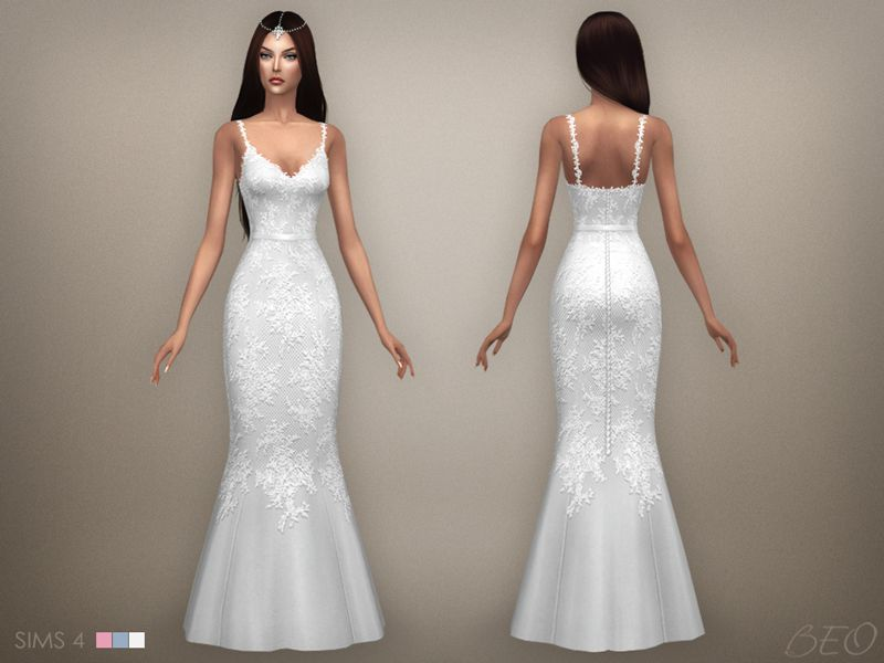 wedding dress 07 for the sims 4beo | sims 4 | sims 4, sims, the sims