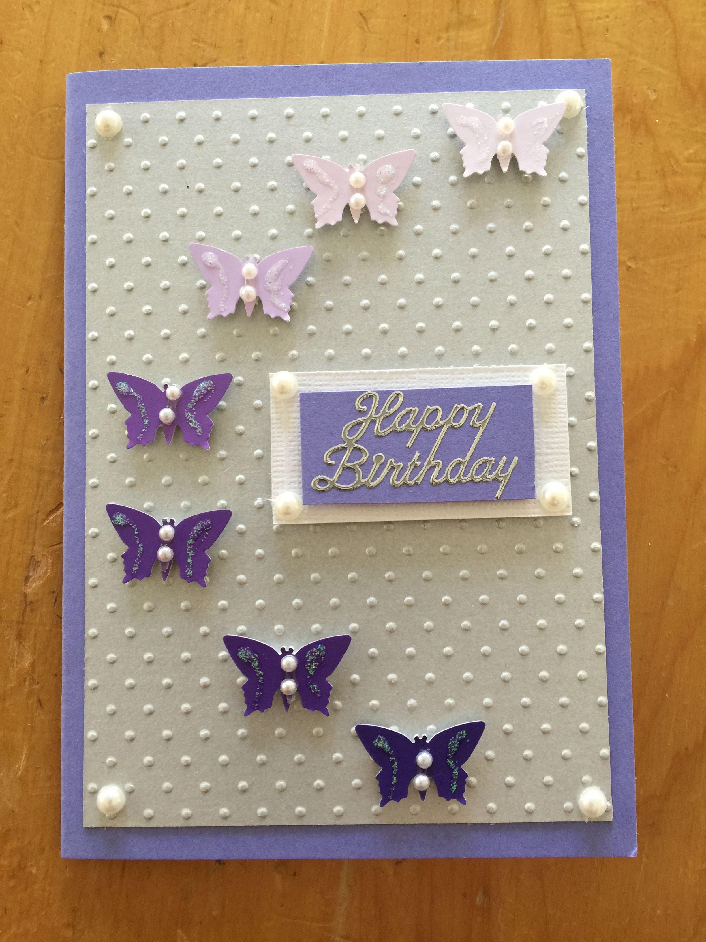 Butterfly Birthday Card Birthday Cards Diy Butterfly Birthday Cards Card Making Birthday