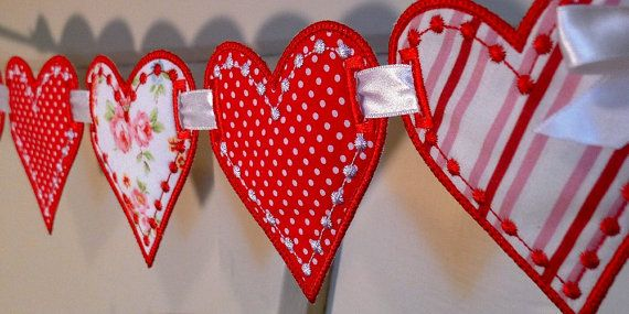 Cute Solid Red Heart  Embroidered Iron On Or Sew On Patch Nice HICA