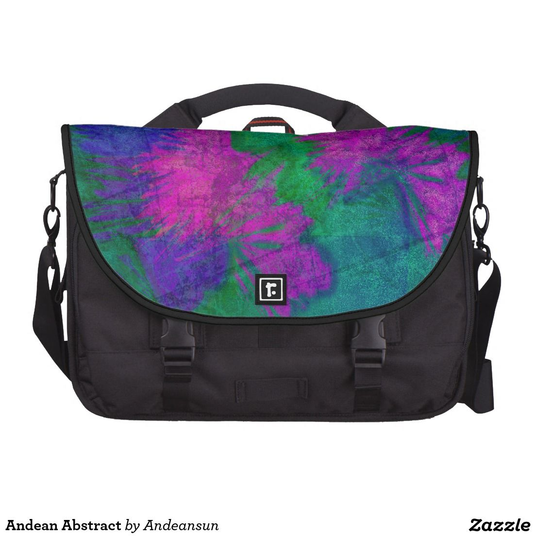 Andean Abstract Laptop Messenger Bag