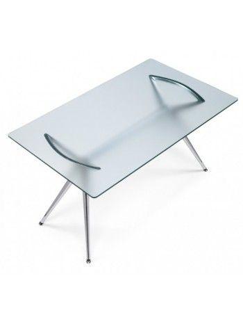 Supporto Per Tavolo In Vetro.Il Tavolo Con Piano In Vetro Temperato Spessore 12 Mm Gambe