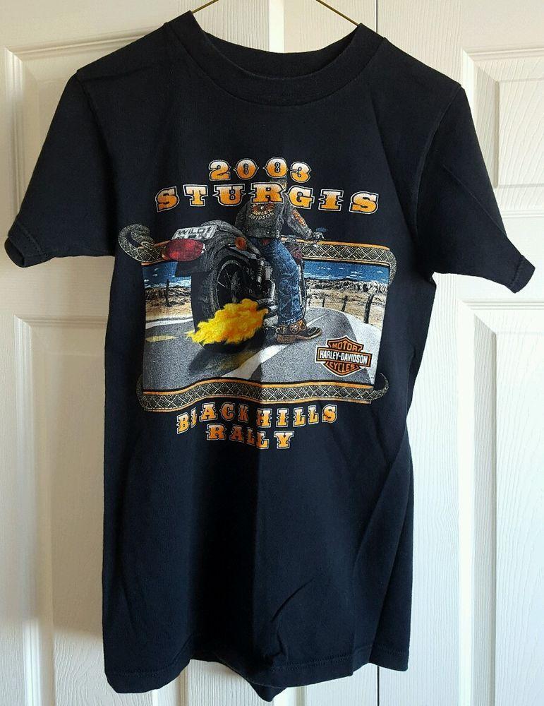 Sold T Shirt 2003 Harley Davidson Sturgis Black Hills Rally 63rd