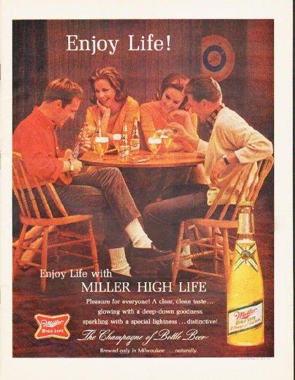 clean unused Lot of 4 Miller High Life Beer vintage red ashtray by Brookpark