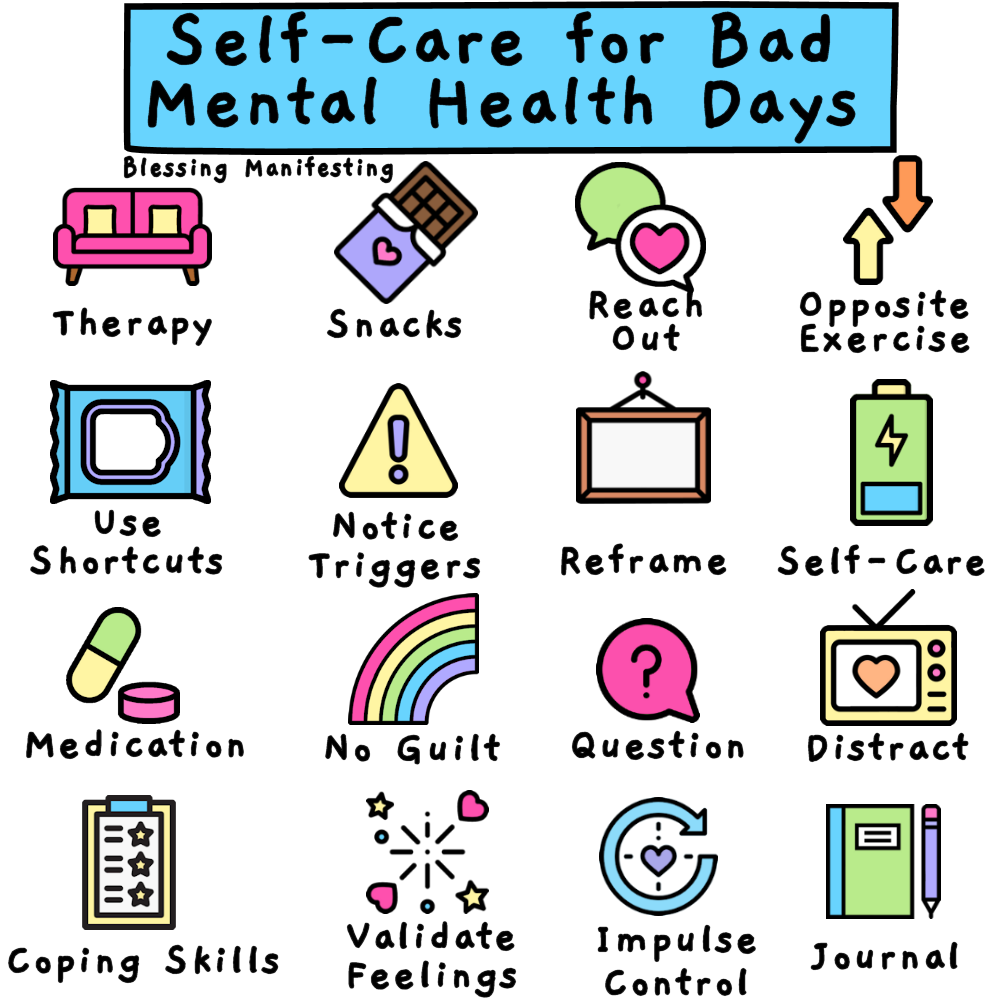 SelfCare For Bad Mental Health Days Mental health day