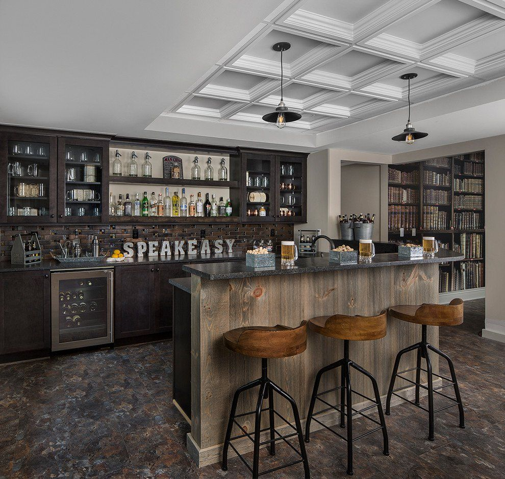 elegant rustic home bar designs that will customize your home