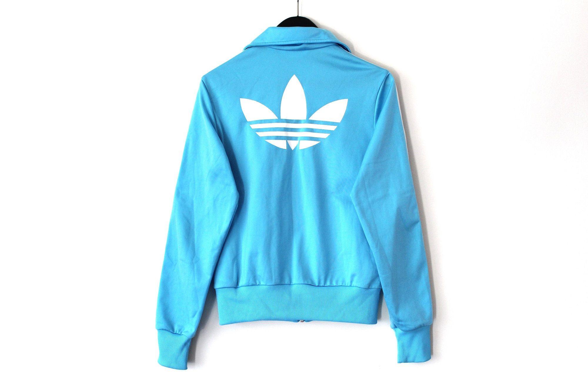Blue White Vintage Adidas Jacket Retro Trefoil Windbreaker Tracksuit Rare Sweatshirt European Model Track Top Women S S Adidas Jacket Vintage Adidas Tracksuit [ 1333 x 2000 Pixel ]