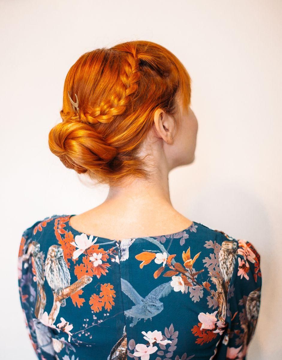 Easy criss cross braided bun a beautiful mess hair inspiration