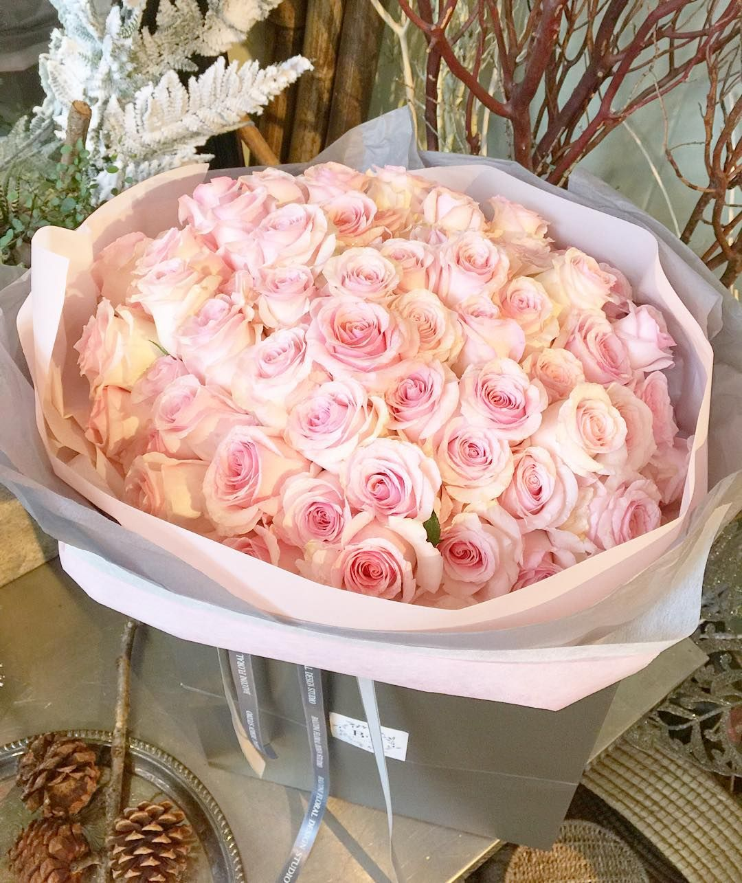 Cool Vancouver Florist 99 Light Pink Roses Bouquet For