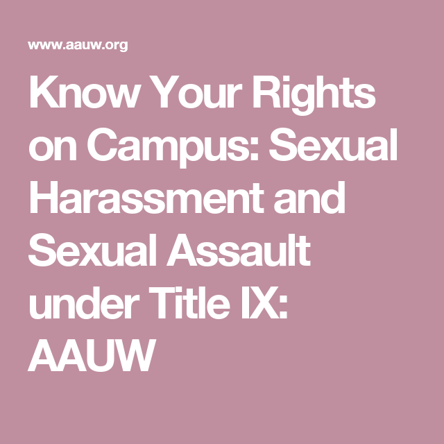 Know your rights title ix sexual harassment