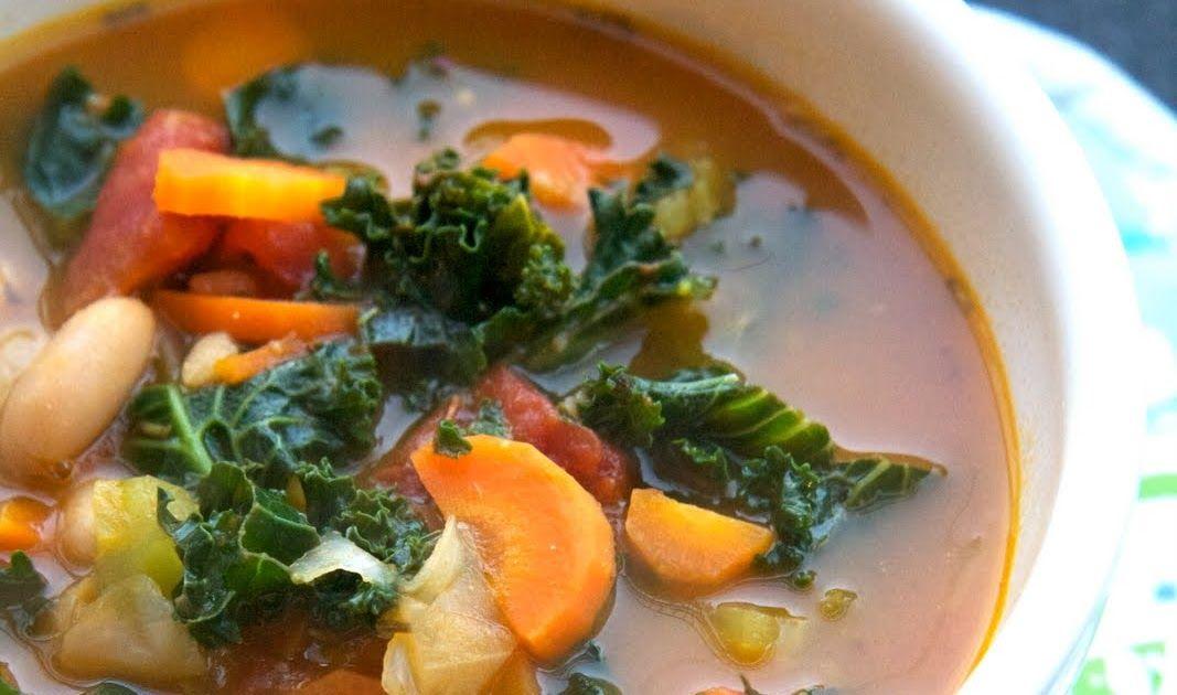Italian white bean kale soup gluten free and vegan