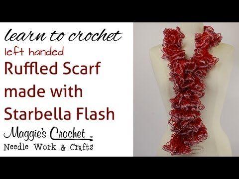 Free pattern crochet super easy ruffled scarf using starbella free pattern crochet super easy ruffled scarf using starbella flash yarn left handed dt1010fo