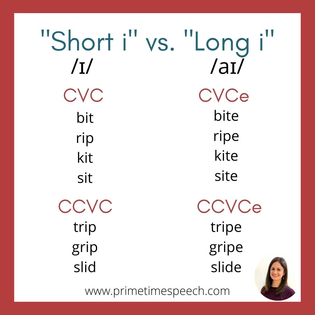 American English Pronunciation Short I Vs Long I In