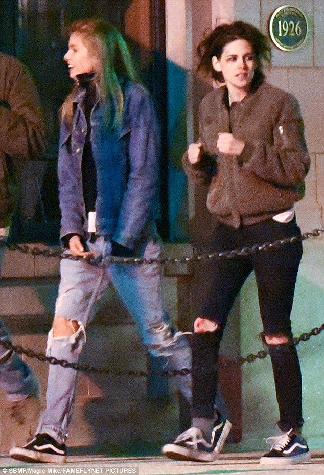 Just the two of us: Kristen Stewart was spotted out with Stella Maxwell in  Savannah