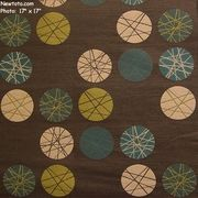 "5 Yard Remnant of ""Revolve - Espresso"" Durable Circle and Line Upholstery Fabric from Momentum Textiles"